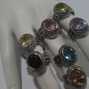 CABLE RING MANY COLORS and Sizes YOUR CHOICE